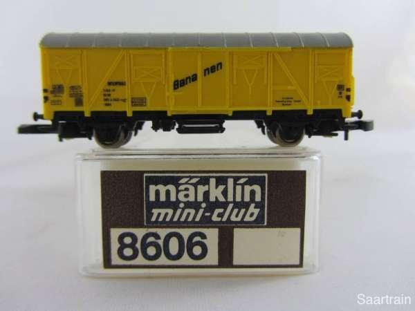 Märklin 8606 Bananenwagen 2 achsig gelb sehr guter Zustand mit Verpackung