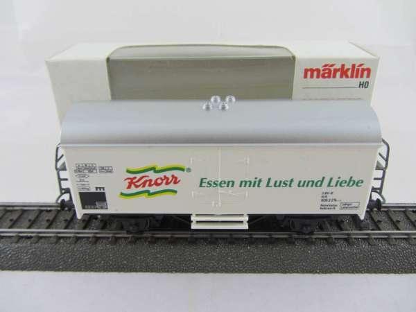 Märklin Basis 4415 Werbewagen Knorr weiss, Sondermodell, neuwertig und mit OVP