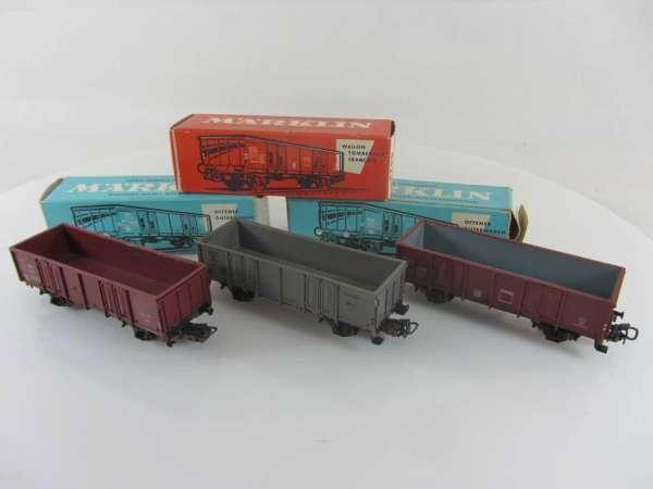 Märklin 4623, 4638, 4639 offene Güterwagen gebraucht mit Originalverp.