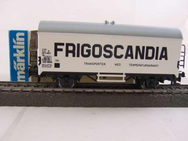 Märklin 4531 Kühlwagen FRIGOSCANDIA Schweden SJ neuwertig und mit Originalverp.