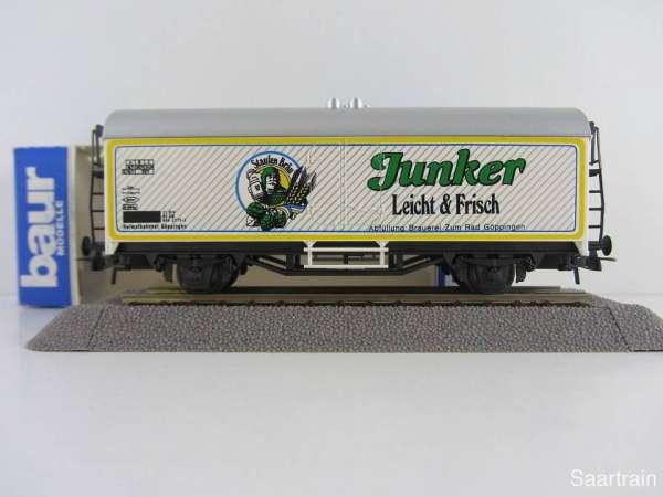 Baur Nr. 160 HO Bierwagen Staufenbräu Junker weiß Neu mit Originalverpackung