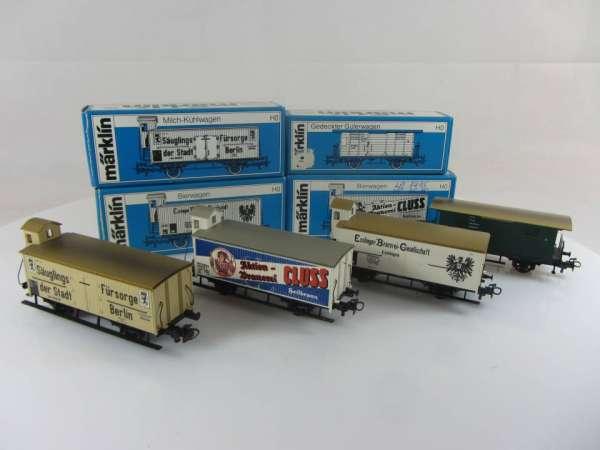 Märklin 4780,4781,4782 Bierwagen G10 und 4685 Güterwagen Würtemberg , gebraucht mit OVP
