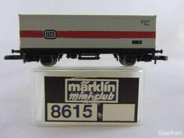 Märklin 8615 Containerwagen der DB grau sehr guter Zustand mit Verpackung