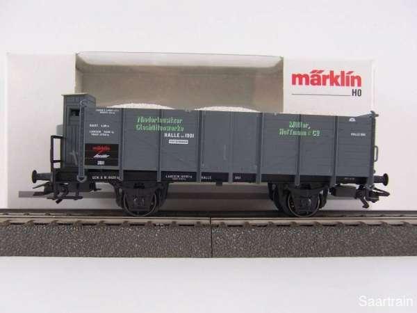 Märklin Insiderwagen 2001 46037 Niederlausitzer Glashüttenwerke mit OVP
