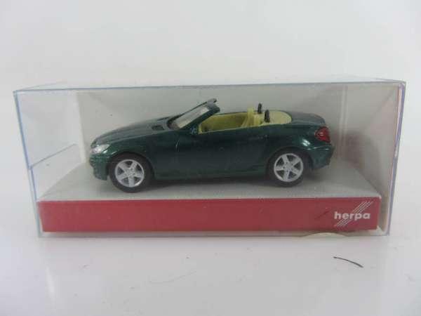 HERPA 33251 1:87 MB SLK Roadster metallic grün neu mit OVP