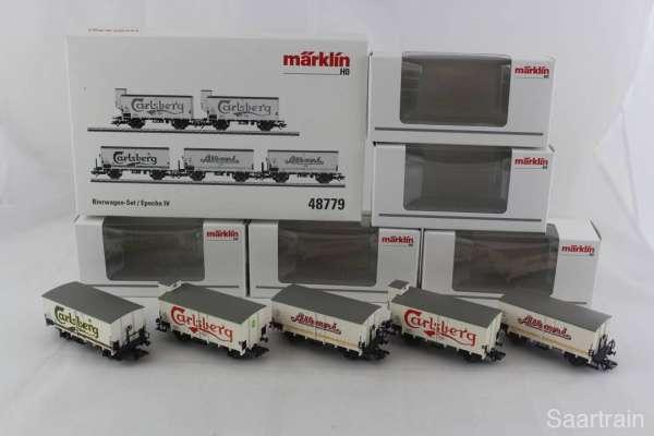 Märklin 48779 Güterwagenset / Epoche IV der DSB 5 Bierwagen neu und mit OVP