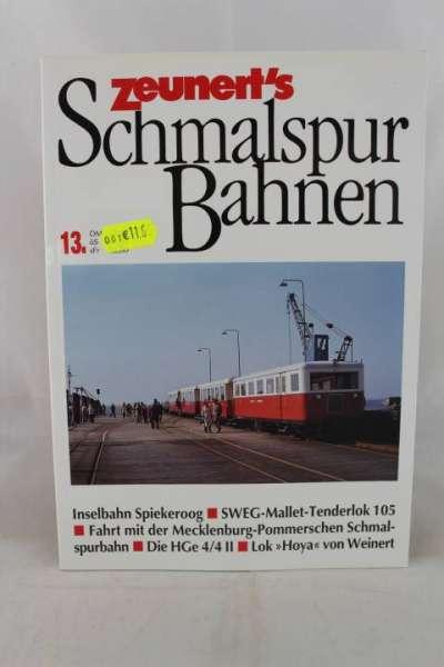 """Eisenbahnbuch """"Zeunert`s Schmalspur Bahnen"""" Band 13"""