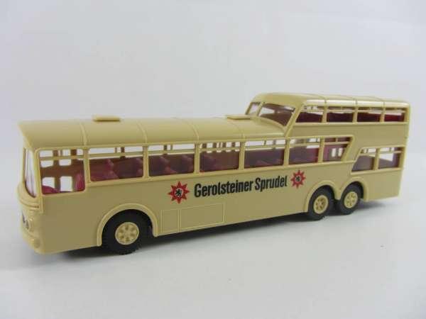 Brekina 1:87 Mercedes-Bus Gerolsteiner Sprudel, sehr guter Zustand, mit OVP