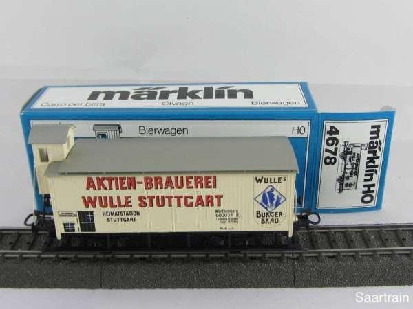 Märklin 4678 Bierwagen G10 Brauerei Wulle Stuttgart guter Zustand und mit OVP