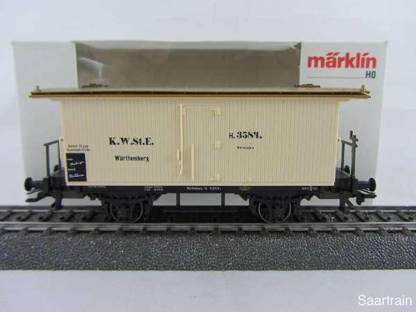 Märklin 48280 gedeckter Güterwagen beige Württemberg neuwertig und mit OVP