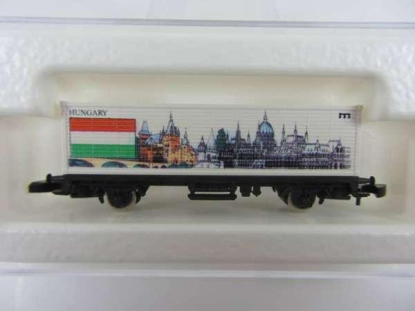 Märklin 8615 Containerwagen Ungarn USA-Flaggenserie mit Verpackung