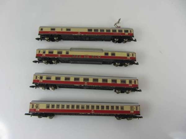 Märklin 8724 8725 8727 und 8728 IC Personenwagen Set der DB sehr gut mit OVP