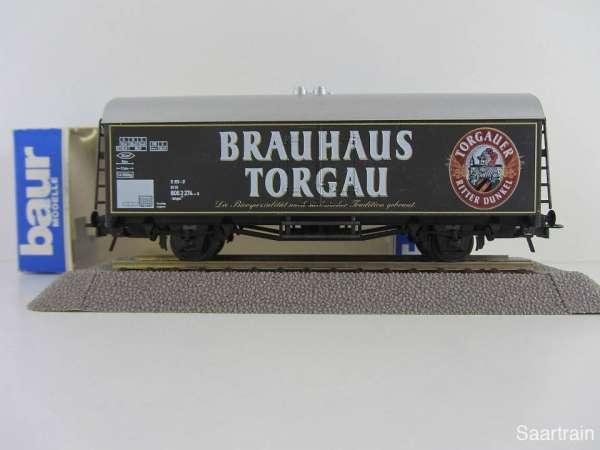 Baur Nr. 203 HO Bierwagen Brauhaus Torgau schwarz Neu mit Originalverpackung