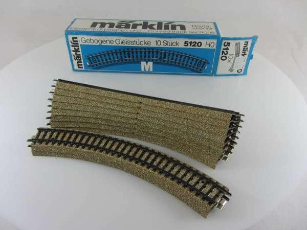 Märklin 5120 10 Stück gebogenes M-Gleis, gebraucht guter Zustand, mit OVP