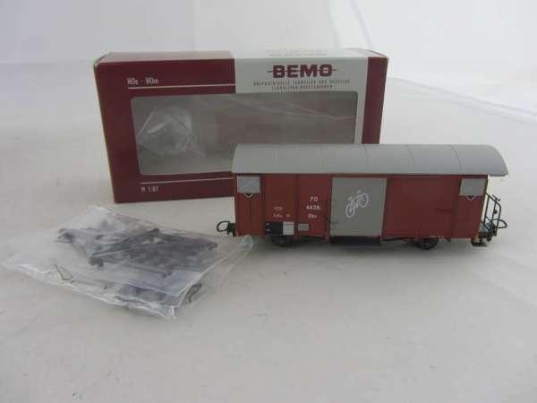 Bemo 2250 228 Ged. Güterwagen 4438 der FO braun, im Neu-Zustand mit OVP