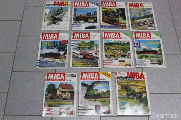 11 Eisenbahn-Hefte (MIBA) gebraucht
