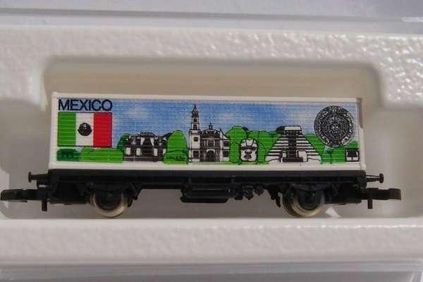 Märklin 8615 Containerwagen Mexico USA Flaggenserie mit Original Verpackung