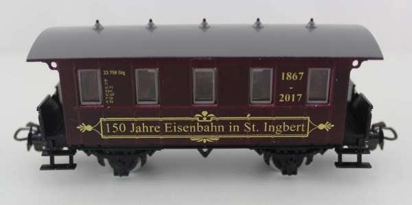 Basis 4107 Personenwagen 150 Jahre Eisenbahn in St.Ingbert, weinrot, Sondermodell