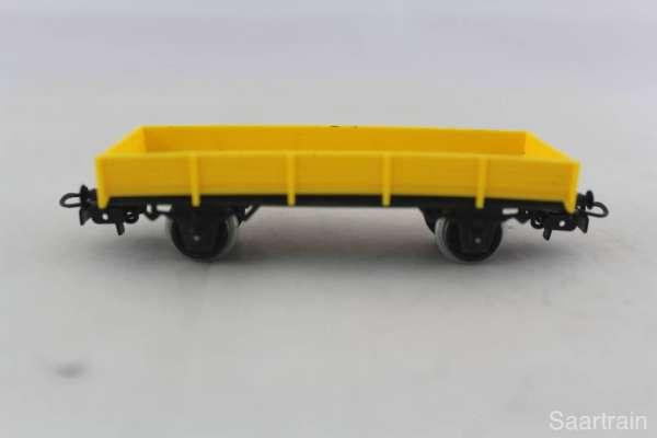 Primex 4596 Flachwagen gelb, ohne Originalkarton, sehr guter Zustand