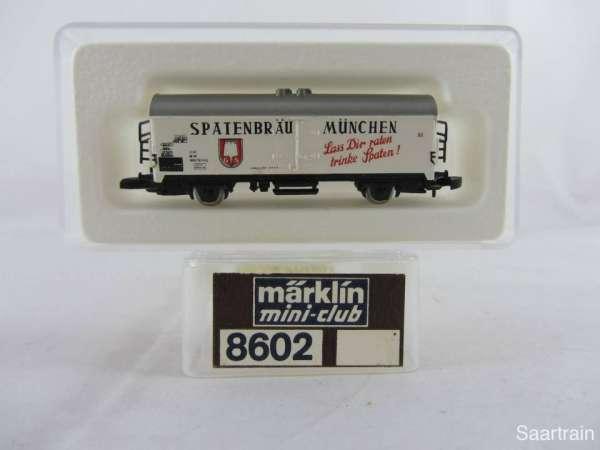 Märklin 8602 Bierwagen Spatenbräu München sehr guter Zustand mit Verpackung