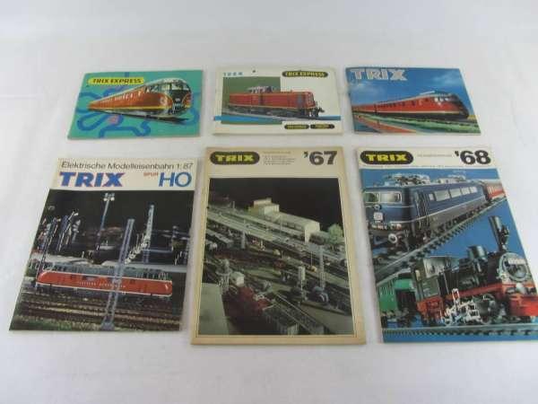 6 alte Trix Kataloge 1963-68, guter Zustand
