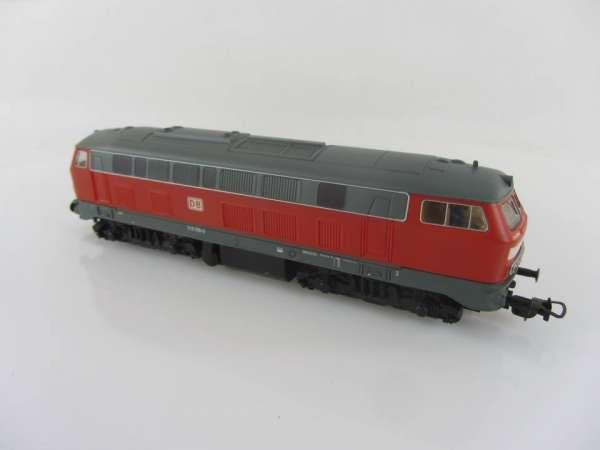 PIKO HO Diesellokomoive 218 296-2 der DB in rot, guter Zustand, ohne Verpackung