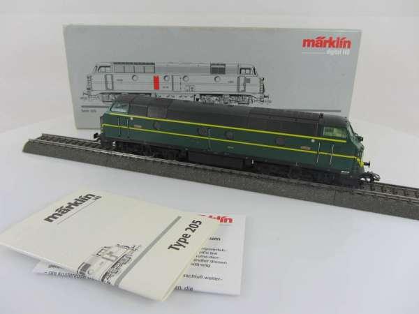 Märklin 37672 Diesellok Serie 205 der SNCB Nohab Belgien, sehr gut und mit OVP