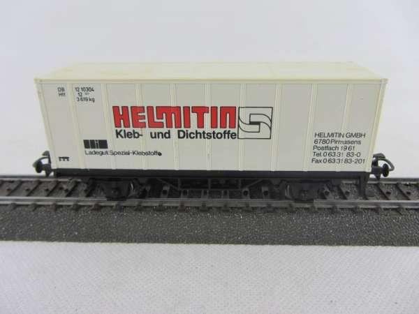 Märklin Basis 4481 Containerwagen Helmitin Pirmasens gebraucht ohne Verpackung