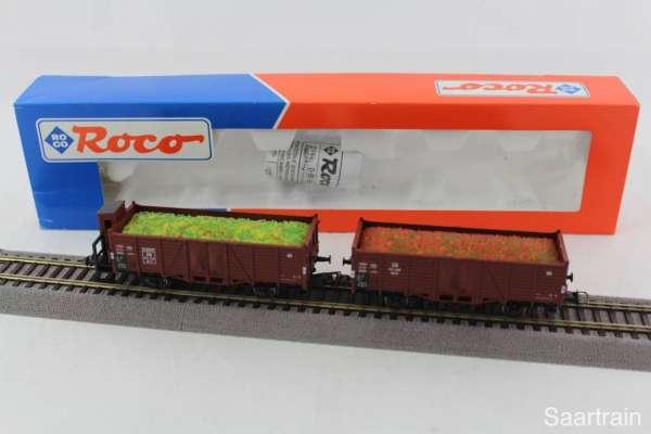ROCO 44152 offene Güterwagen-Set der DB braun, sehr guter Zustand mit OVP