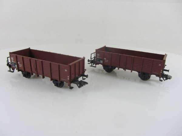 Märklin offener Güterwagen der DB braun (2 Stück) KKK sehr gut ohne Verpackung