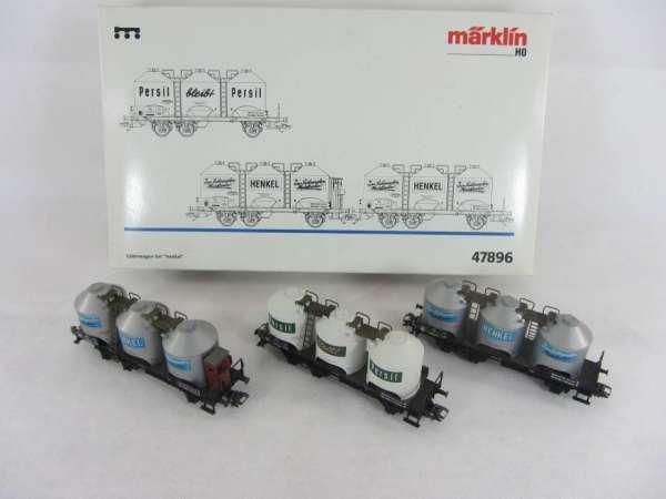 Märklin 47896 Wagenset Henkel 3 Güterwagen MHI neuwertig und originalverpackt