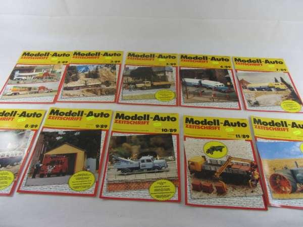 Modell-Auto Zeitschrift (10 Hefte) von 1989 sehr guter Zustand