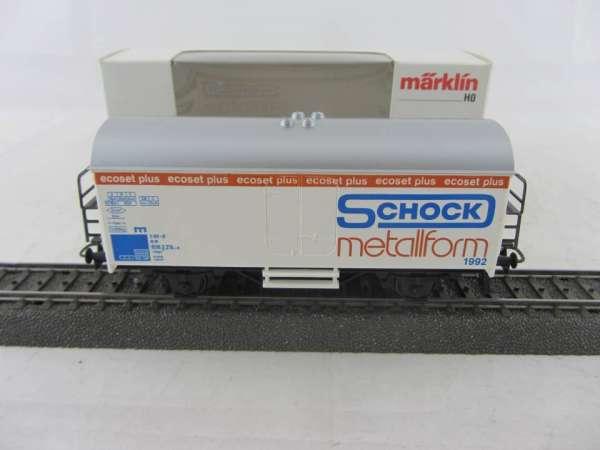 Märklin Basis 4415 Werbewagen Schock Metallform 1992, Werbemodell, neu und mit Verpackung