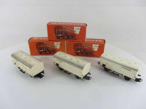 Märklin 4508 Kühlwagen (3 Stück) gebraucht mit Originalverpackung