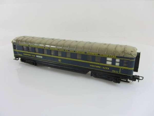 Märklin 346/J Schürzenwagen aus Blech, Schlafwagen blau, für Bastler