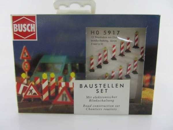 Busch HO 5917 Baustellen-Set 1:87 neu mit OVP