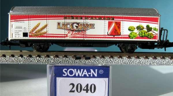 SOWA-N 2040 SNCF HBis Kühlwagen, Bierwagen Licorne,Neu,OVP,M 1:160