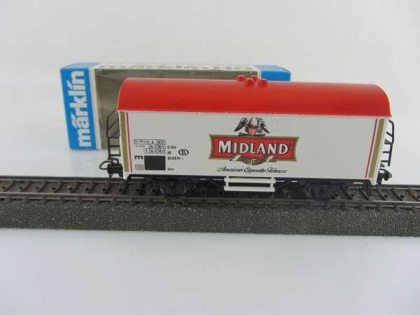 Märklin Basis 4415 Werbewagen Midland Tobacco Belgien, Sondermodell mit OVP