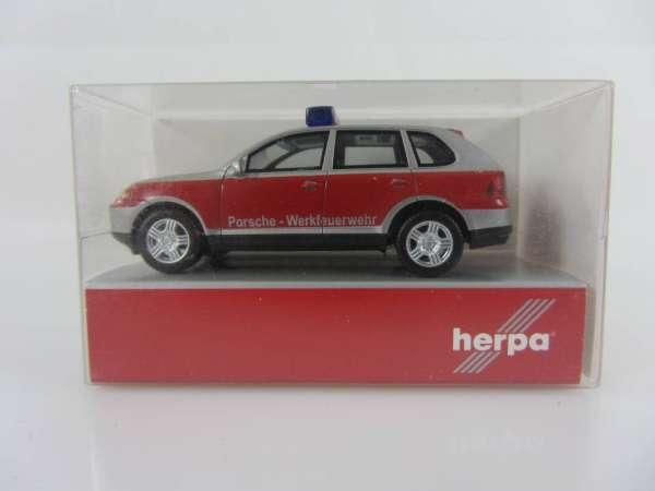 HERPA 48149 1:87 Porsche Cayenne Werkfeuerwehr neu mit OVP