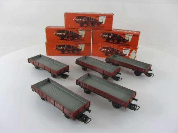 Märklin 4503 Niederbordwagen (5 Stück) gebraucht mit roter Originalverpackung