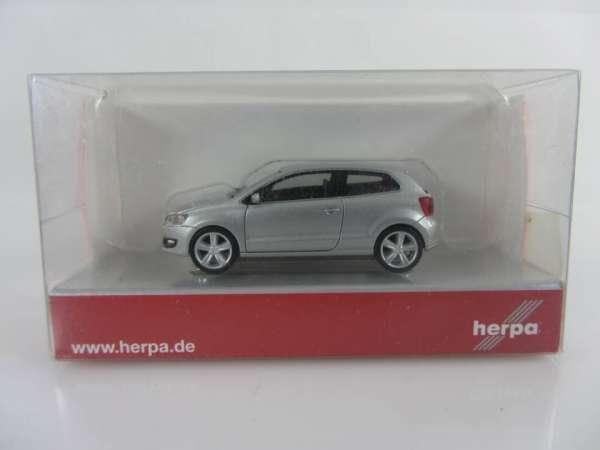 HERPA 34234 1:87 VW Polo 2-türig silbern neu mit OVP