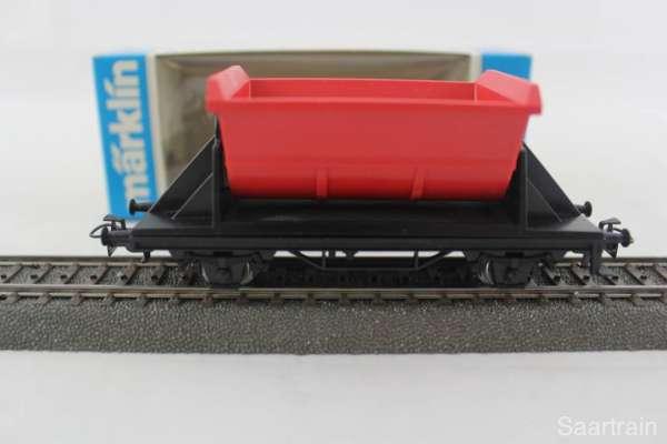 Märklin 4413 Kipplore rot, neuwertig mit Originalverpackung