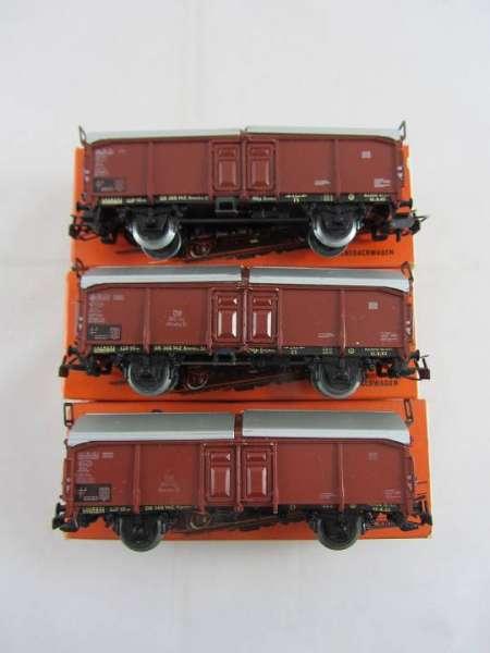 Märklin 4619 Schiebedachwagen (3 Stück) gebraucht mit roter Originalverpack.