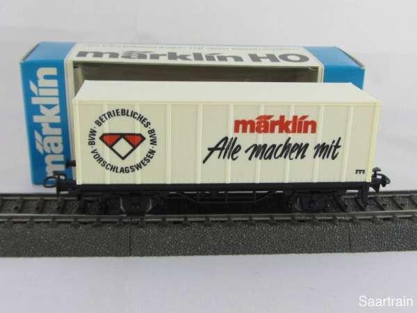 Märklin Basis 4481 Containerwagen BVW Alle machen mit Sondermodell Neu m. OVP