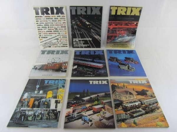 9 alte Trix Kataloge 1981/82-91/92, guter Zustand