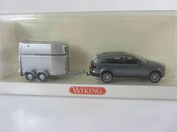 Wiking 66037 HO 1:87 Audi Q7 mit Pferdeanhänger, neu und mit OVP