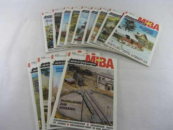 MIBA (13 Hefte) von 1991-1992 sehr guter Zustand