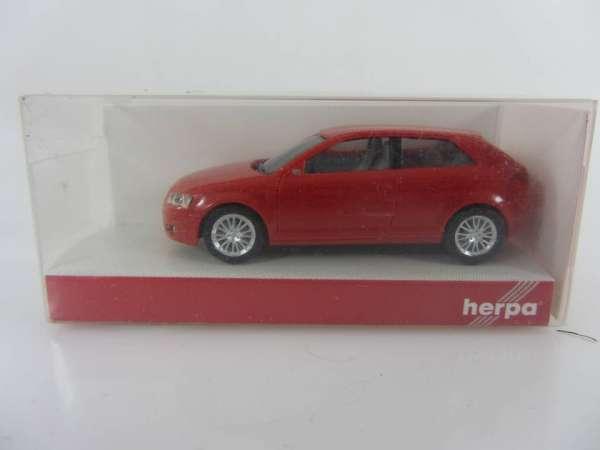 HERPA 23375 1:87 Audi A3 rot neu mit OVP