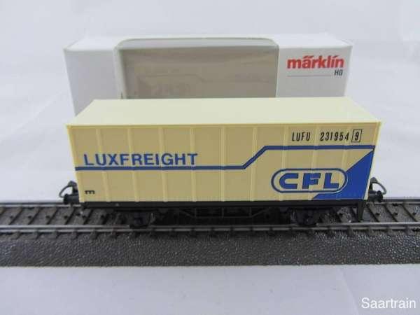 Märklin Basis 4481 Containerwagen CFL LUXFREIGHT SOMO verblasst mit OVP