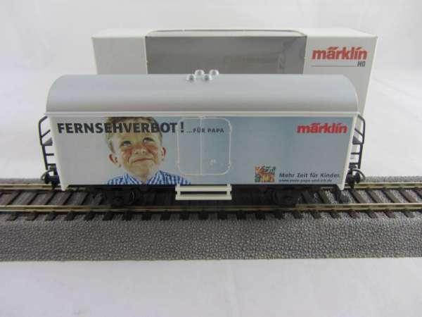"""Märklin 4415 Werbewagen """"Mehr Zeit für Kinder"""" Sondermodell mit OVP"""